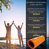 Fit Nation Faszienrolle – Foam Roller Set zur Selbstmassage mit Übungsbuch – Sport Massagerolle Für Anfänger, Profis, Damen & Herren – Orange - 7
