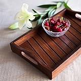 #7: Onlineshoppee Sheesham Wood Handcrafted Tray