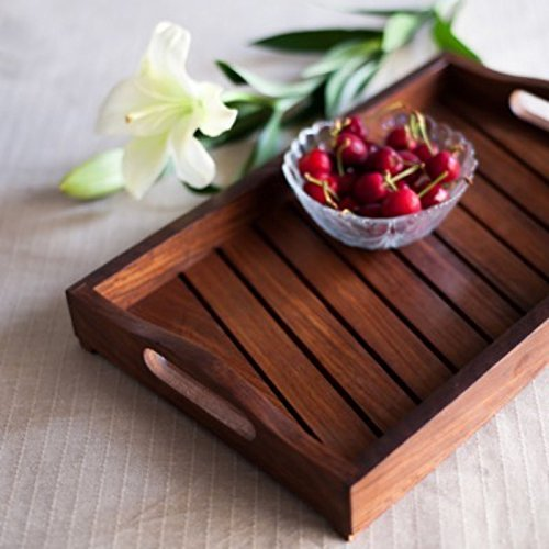 Onlineshoppee Sheesham Wood Handcrafted Tray