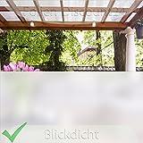 (EUR 5,00 / Quadratmeter) GLASDEKORFOLIE Sichtschutzfolie SATINIERTE Milchglasfolie PREIS TIP! 1 Meter x 61cm