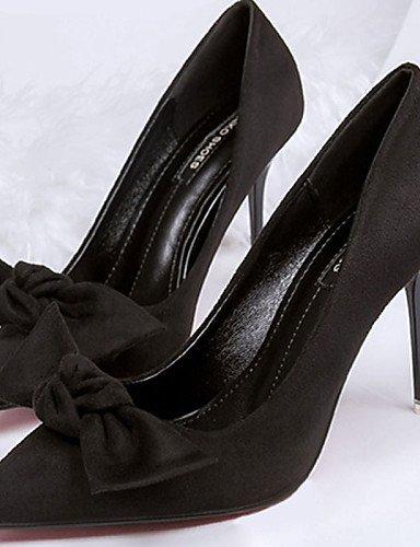 WSS 2016 Chaussures Femme-Décontracté-Noir / Vert / Gris / Kaki-Talon Aiguille-Talons-Talons-PU khaki-us7.5 / eu38 / uk5.5 / cn38