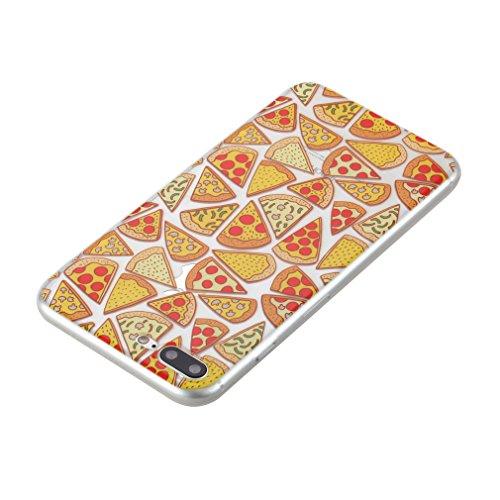 SZHTSWU® Hülle für iPhone 6 6s, Ultra Slim Thin Weiche TPU Ultradünn Soft Silikon Schutzhülle Case Transparent Clear Flexible Rückschale Back Cover Etui Handy Hülle Bumper Abdeckung für Apple iPhone 6 Pizza