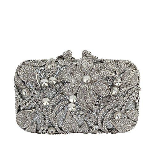 Damen Handtaschen Kristall Hochzeit Party Abendtasche Handtasche D