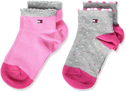 Tommy Hilfiger Baby-Mädchen Socken TH Girl Dots 2P 2er Pack, Mehrfarbig (Pink Lady 422), 23-26