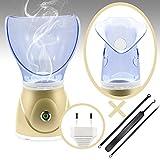 Gesichtsdampfer + Akne Nadel Set Professionelle Gesichts-Sauna Dampf-Inhalator Spa für Gesichtsmaske Feuchtigkeitscreme und Sinus mit Befeuchter Funktion