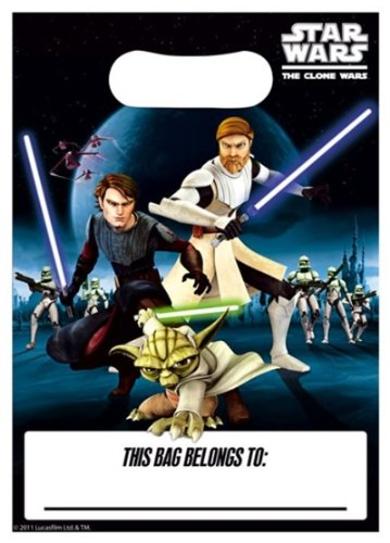 Clone Wars Loot Bags Pack of 8 (Wars Clone The Party Supplies)