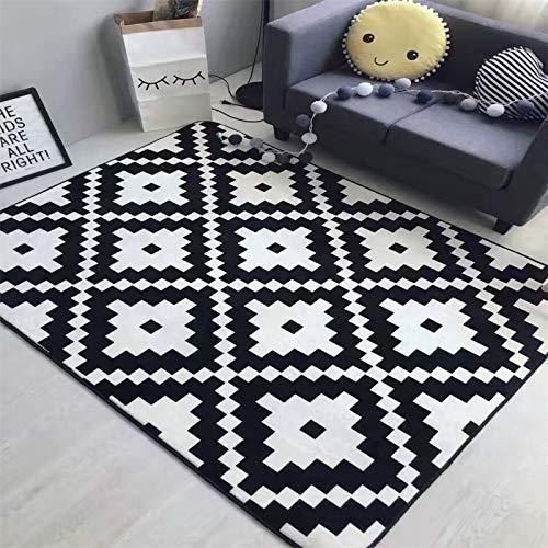 Teppich Wohnzimmer Kinderzimmer Mode Rhombus Cartoon Boden Bad Fuß Yoga Spielmatte Flur Wohnzimmer Schlafzimmer Dekorative Carpet Bereich Teppich Katze Zebra 80X185 cm 31X73 Zoll 1 -