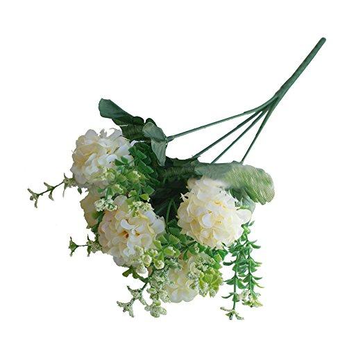 DAEDALUS dædalus ® 1Bouquet Großhandel von Fake Blumen Simulation Echte, natürliche Künstliche Chrysantheme für Home Office Party Tisch Decor Hochzeit Blumensträuße, Plastik, weiß, Einheitsgröße (In Weiße Bulk Vasen)