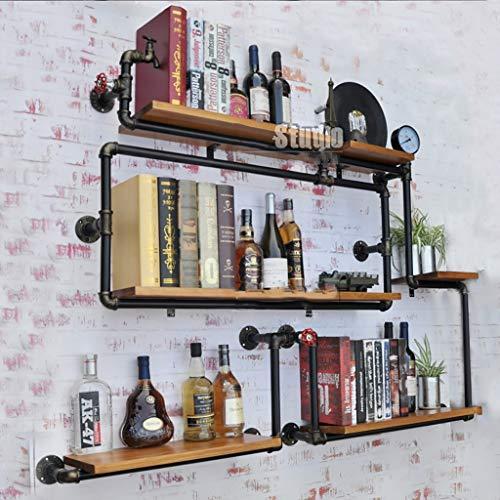 FPigSHS Schränke Weinschränke Wand Weinschrank Wand-Rack hängen Display-Ständer Weinglas Halter...