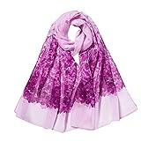 Chiffon Bedruckte Schal Lang, Oyedens Mode Damen Klimaanlage Schal Schals Frauen Blumendrucken Lange Weiche Wrap Schal