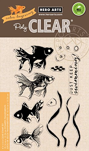 Preisvergleich Produktbild Unbekannt Hero Arts Hero Arts Clear Stamps 4-Zoll x 6-inch-color Schichtung Goldfish
