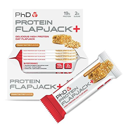 PhD Nutrition Protein Flapjack+ Bars, Apple and Raspberry, Pack of 12 x 75g Test