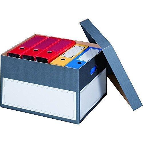 smartboxpro Archiv-/Transportbox L, grau, mit Stülpdeckel