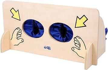 Small Foot by Legler Sinnesspiel Fühlwand aus Holz, Lernspiel zum Erfühlen unterschiedlichster Gegenstände, fördert die Konzentration und den Tastsinn