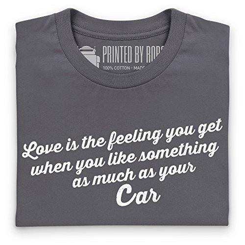 Love Your Car T-Shirt, Damen Anthrazit
