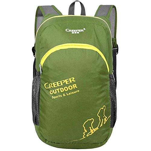 Pelle di Outdoor pieghevole Pack Pack ultralight Backpack zaino impermeabile nylon uomini e donne borsa campeggio , deep green deep green