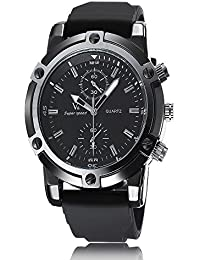 iSweven Fashion V6 Series big dial Men's sports watch and good quartz performance Analogue Black Unisex Wrist Watch w1056c