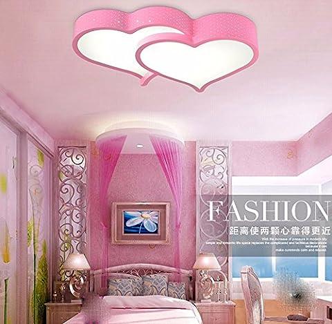 GZ Deckenleuchten Schlafzimmer romantische Liebe Cartoon Lampen & Leuchten, Rosa 36W Weiße Licht 73 * 45 cm Led
