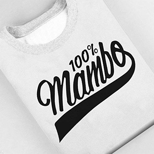 Mambo Coke Style Logo Black Text Women's Sweatshirt White