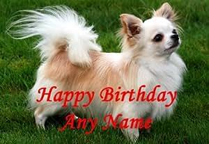 Personnalisé Chien Chihuahua Carte d'anniversaire