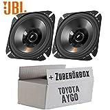 Toyota Aygo - Lautsprecher Boxen JBL Stage 402 | 2-Wege | 10cm Koax Auto Einbauzubehör - Einbauset