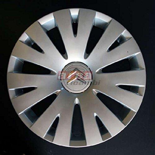 Lot de 4 Enjoliveurs Enjoliveur Boutons Clous de voiture Coupes Rivets Roue Citroen C4 Picasso r 15 (Sc 459L) Logo de Chrome