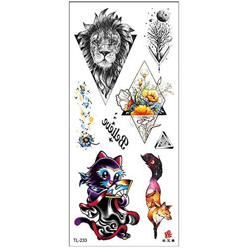 3Pcs-2019 tatuaje pegatinas señoras flores del brazo bosquejo acuarelas pegatinas tatuaje impermeable pegatinas generación del punto 3Pcs-33