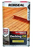 Ronseal RSLUDONP5L 5L Ultimate Protection Decking Oil - Natural Pine