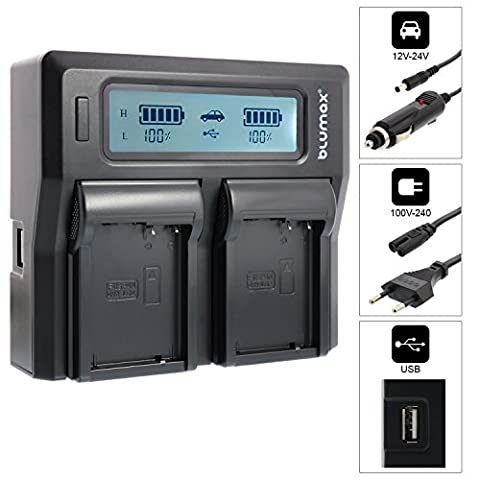 Doppelladegerät für Panasonic DMW-BLC12 DMW-BLC12-E Dual Charger   passend zu Lumix DMC: G5   G6   GX8   G70   G81   GH2   FZ200   FZ300   FZ1000   FZ2000   Leica V-Lux 4