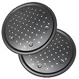 LS Kitchen - Molde para Pizza con Agujeros - Acero al Carbono - Recubrimiento Antiadherente - Diámetro 32 cm - Set de 2