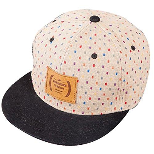 Belsen Damen Hip-Hop Farbgitter Baseball Cap Trucker Hat (Beige) Hip Hop Trucker Hats
