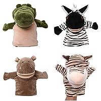 YNSD Cute Animal Plush Hand Puppets Set,Soft Plush Finger Dolls Animal Toys.