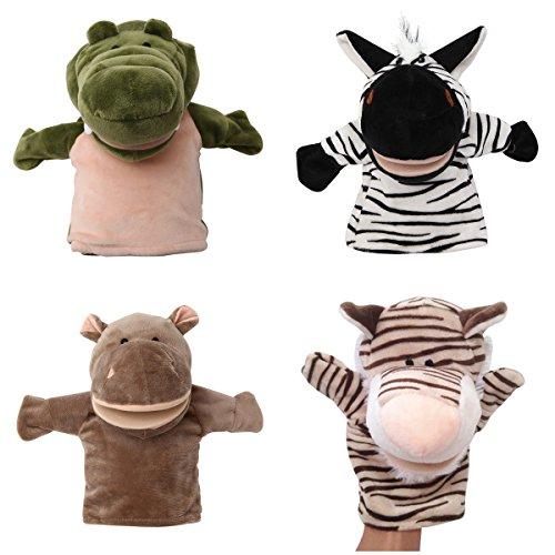 Alpacasso Conjunto de Marionetas de Mano de Felpa Animales...