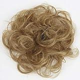 PRETTYSHOP 100% Echthaar Humanhair Haargummi Haarteil hairpiece Haarverdichtung Zopf Haarband Haarschmuck div. Farben (honigblond #27)
