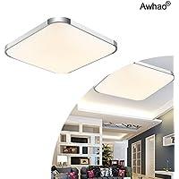 Awhao Lámparas del techo LED 12W 24W 36W 54W 72W Bombillas del techo Ahorro De Energía Iluminación de Interior Luz de blanca cálida[Clase de eficiencia energética A+++] (36W)