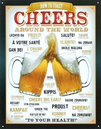 cartel-de-chapa-cheers-around-the-world-beer-tamano-41-x-32-cm