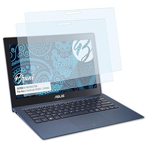 Bruni Schutzfolie für Asus Zenbook UX301 / UX302 Folie, glasklare Displayschutzfolie (2X) - Asus Zenbook Ux301la