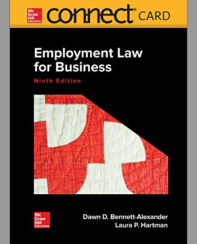 Connect Access Card Mcgraw-hill (Connect Access Card for Employment Law for Business)