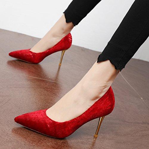 FLYRCX La sig.ra jinsirong ammenda appuntita con alto grado di temperamento individuale sexy party scarpe tacchi a