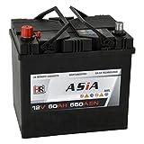 HR HiPower ASIA Autobatterie 12V 60Ah Japan Pluspol Links Starterbatterie ersetzt 40Ah 50Ah 65Ah 70Ah