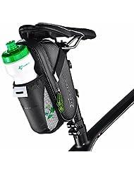 Bolsa bajo sillín bicicleta bicicleta impermeable + bolsillo porta botella ROCKBROS