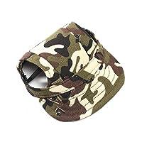 UEETEK Animaux de compagnie chien toile Sports de chapeau casquette de Baseball avec des trous d'oreille pour petits chiens - taille S (couleur Camouflage)