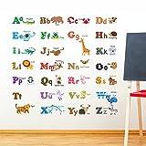 Decowall DW-1308 Alphabet & Tiere Wandsticker Wandaufkleber Wandtattoo Kinderzimmer (Mittlere) - 3