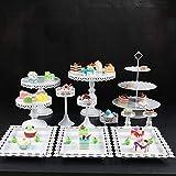 G-wukeer Cupcake Stand , 12Pcs Kristall Metall Cupcake Halter Kuchenständer Schokoladenbrunnen für Abschluss Party Supplies 2019 - 4
