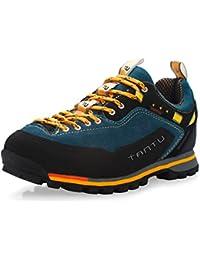 SANANG Hombres impermeables transpirable zapatos de senderismo al aire libre botas de senderismo deporte zapatillas