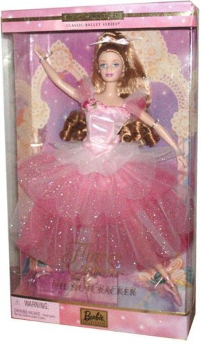 Kostüm Barbie Ballerina - Barbie Year 2000 Collector Edition Classic Ballet Series 12 Inch Doll as Flower Ballerina from The Nutcracker with Pink Ballett Kostüm, Ballet Slippers, Doll Stand and Certificate of Authenticity