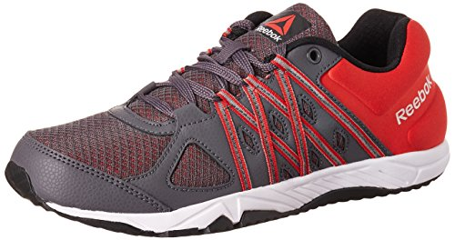 Reebok Boy's Meteoric Run Lp Ash Grey, Riot Red and Black Sports Shoes – 6 UK/India (38.5 EU) (6 US) 51PXJTlZFZL