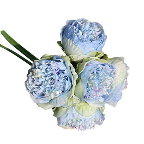Rameng- Pivoine Fleurs, Bouquet Fleur Artificielle Mariage Décoration de la Maison (D)