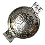 Scottish Pewter Celtic Toasting Quaich - Welcome Beloved Child