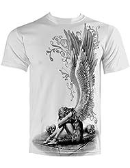 Spiral t-shirt enslaved angel blanc-impression recto-verso